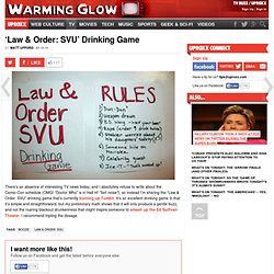 'Law & Order: SVU' Drinking Game