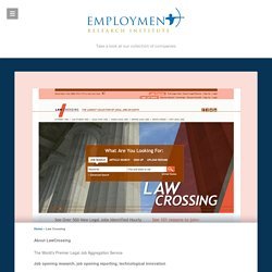About LawCrossing - Employment Research Institute