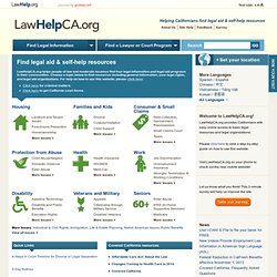 LawHelpCalifornia.org | A guide to free and low-cost legal aid, assistance and services in CA