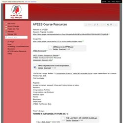 Lawing - APEES Course Resources