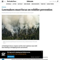 Lawmakers must focus on wildfire prevention