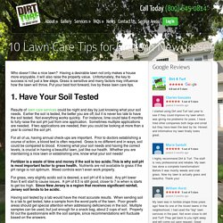 Top Lawn Care Tips for New Jersey