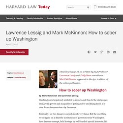 Lawrence Lessig and Mark McKinnon: How to sober up Washington