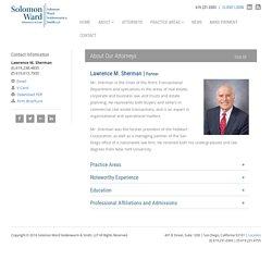 Lawrence M. Sherman - Solomon Ward Partner