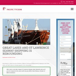 Great Lakes St Lawrence Seaway Shipping Rebounding