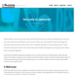Ten Laws to Design By « Web Design Marketing Podcast & Blog