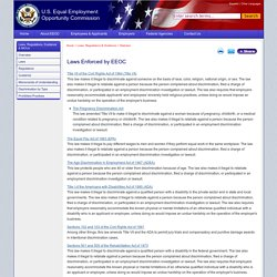 Laws Enforced by EEOC