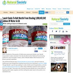 Lawsit Seeks to Halt Nestlé from Stealing 1,838,451,342 Gallons of Water in CA