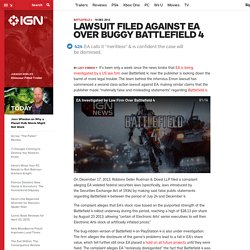 Lawsuit Filed Against EA Over Buggy Battlefield 4