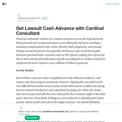 Apply for Quick Lawsuit Cash Advance with Cardinal Consultant