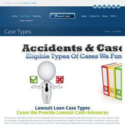 Lawsuit Funding Case Types