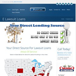 E Lawsuit Loans - Lawsuit Funding Company