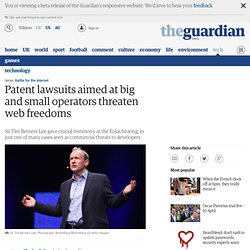 Patent lawsuits aimed at big and small operators threaten web freedoms