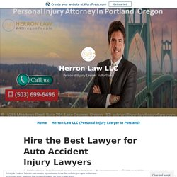 Hire the Best Lawyer for Auto Accident Injury Lawyers – Herron Law LLC