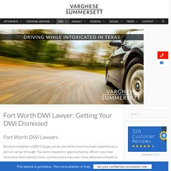 Get Your DWI Charge Dismissed
