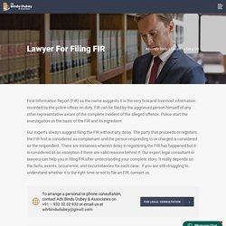 Lawyer for Filing FIR - Advocate Bindu