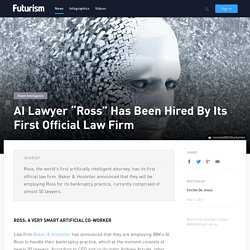 "Artificially Intelligent Lawyer ""Ross"" Has Been Hired By Its First Official Law Firm"