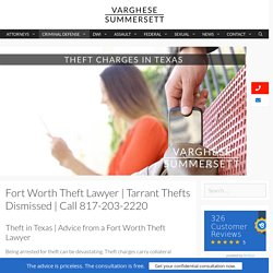 Tarrant County Thefts Dismissed