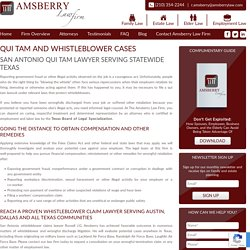Qui Tam Texas Lawyer and Whistleblower Cases