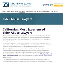 Moran Elder Law is the Best Firm for Elder Abuse Lawyer