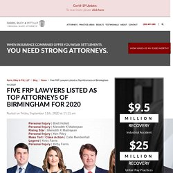 Five FRP Lawyers Listed as Top Attorneys of Birmingham for 2020