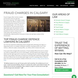 Lawyers for Fraud Charges in Calgary