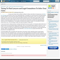 Trying To Find Lawyers and Legal Committees To Solve Your Cases by Lippitt O'Keefe Gornbein PLLC