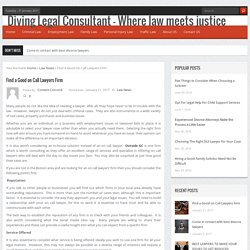 Diving Legal Consultant - Where law meets justice
