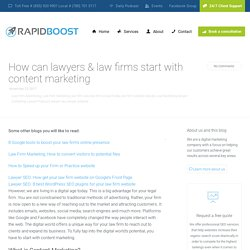 Is Content Marketing Beneficial for Law Firm in Edmonton?