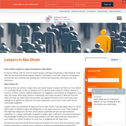 Consult With The Team Of Best Lawyers In Abu Dhabi