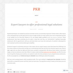 Expert lawyers to offer professional legal solutions