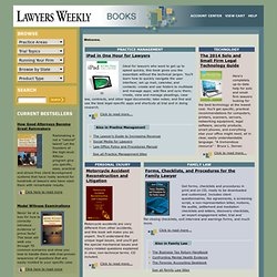Lawyers Weekly Books