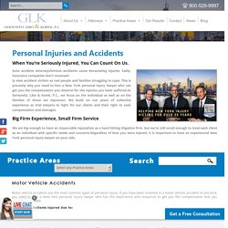 New York Injury Lawyers - Motor Vehicle & Workplace Accident Claims