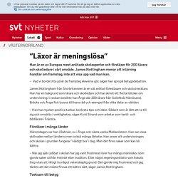 """""""Läxor är meningslösa"""""""