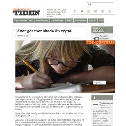 Läxor gör mer skada än nytta - Tankesmedjan Tiden