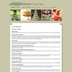 Layer Cakes | Gabriels Desserts
