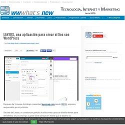 LAYERS, una aplicación para crear sitios con Wordpress