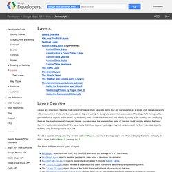 Layers - Google Maps JavaScript API v3