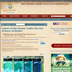 Layers of the Ocean: Under the Sea Science Activities