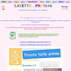 LAYETTE.PREMAS/Modèles.