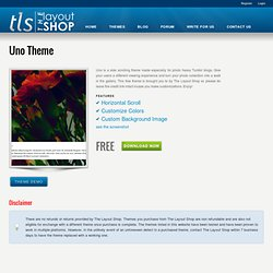Uno Theme « The Layout Shop : Tumblr Themes for Best Blogging Experience