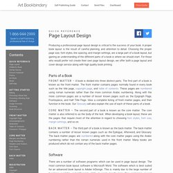 Page Layout Design - Art Bookbindery Self-Publishing Guide