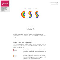 Layout — Chapter 2 — Magic of CSS — Adam Schwartz