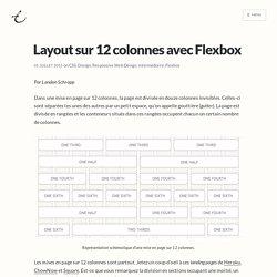 Layout sur 12 colonnes avec Flexbox