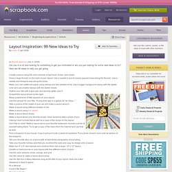 ing Article: Layout Inspiration: 99 New Ideas to Try