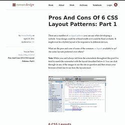 Pros And Cons Of 6 CSS Layout Patterns: Part 1