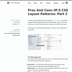 Pros And Cons Of 6 CSS Layout Patterns: Part 2