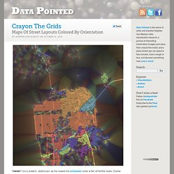 Crayon The Grids – Maps Of Street Layouts Colored By Orientation