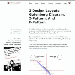 3 Design Layouts: Gutenberg Diagram, Z-Pattern, And F-Pattern