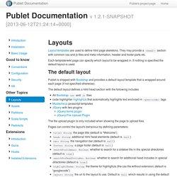 Layouts - Publet Documentation